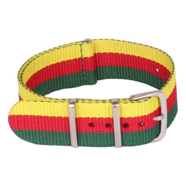 info for 3b8c0 3ee18 Multi color Red Yellow Green Women Men 20mm Bracelet Nato watch strap Belt  Nylon Woven Fiber watchband 20 mm Buckle For hours