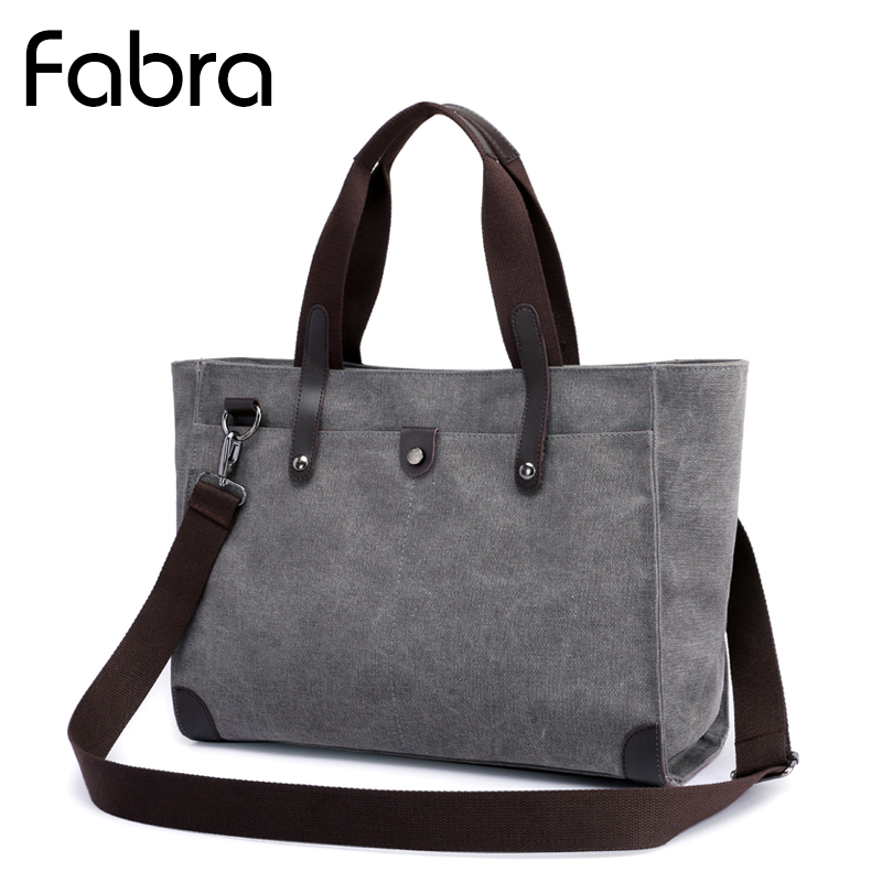 Fabra Woman Handbags Canvas Bags Women Casual Shoulder Bag Messenger Bags Bolso Ladies Bag Casual Tote Large Capacity