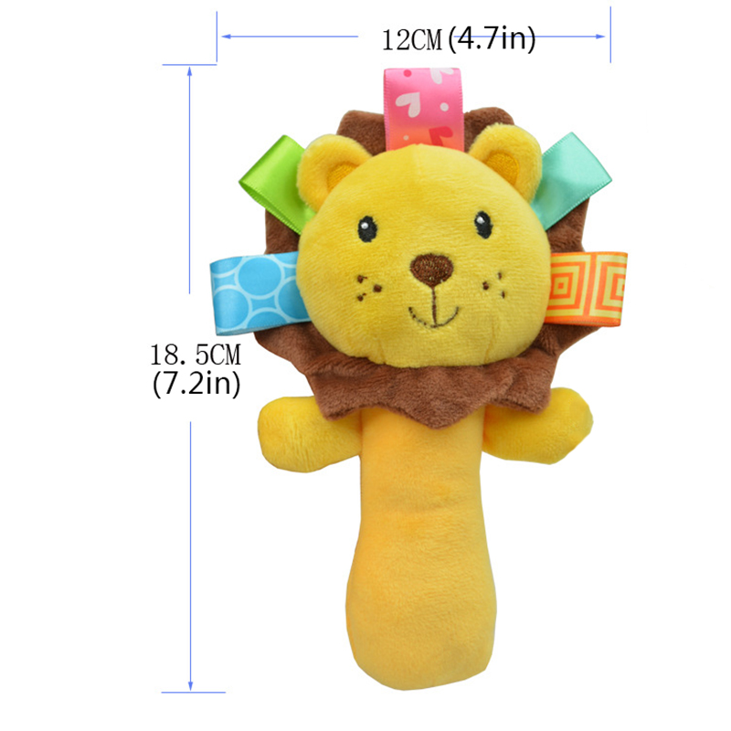 Newborn Baby Toys 0-12 Months Cartoon Animal Baby Plush Rattle Mobile Bell Toy Infant Toddler Early Educational Toys speelgoed 6