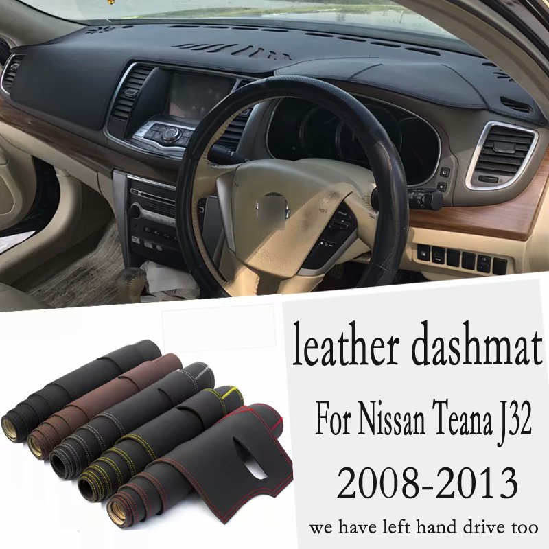 For Nissan Teana J32 2008 2009 2010 2011 2012 2013 Leather Dashmat Dashboard Cover Pad Dash Mat Carpet Custom Car-Styling RHD image