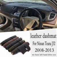 Voor Nissan Teana J32 2008 2009 2010 2011 2012 2013 Lederen Dashmat Dashboard Cover Pad Dash Mat Tapijt Custom Auto -Styling RHD