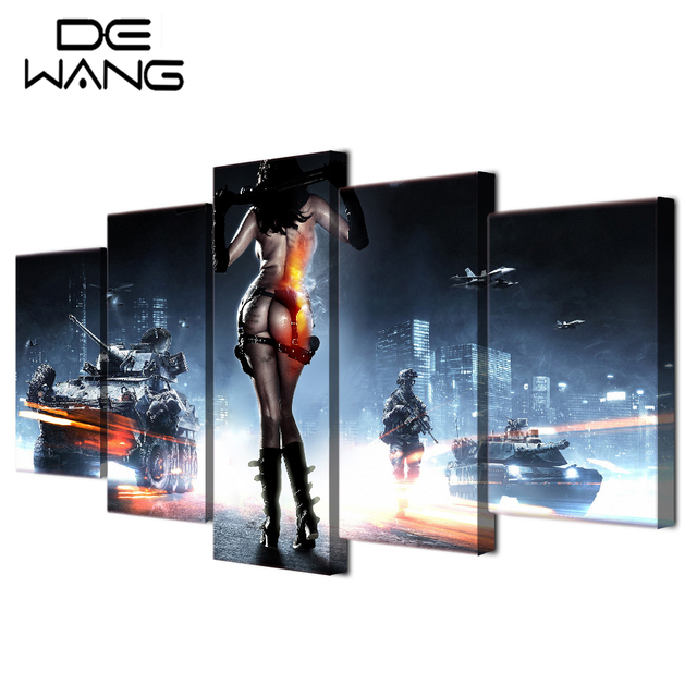 5 Piece Canvas Art Hot Y Open Photos Hd Painting Wall Home Decor