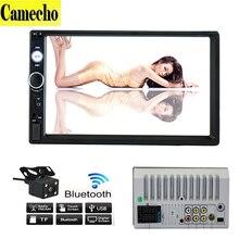 Универсальный 2 Din Автомобиль MP5 Игрок 7 «Сенсорный Экран HD Автомобильный Монитор Мультимедиа FM/MP5/USB/AUX/Bluetooth Для Автомобиля Камера Заднего вида