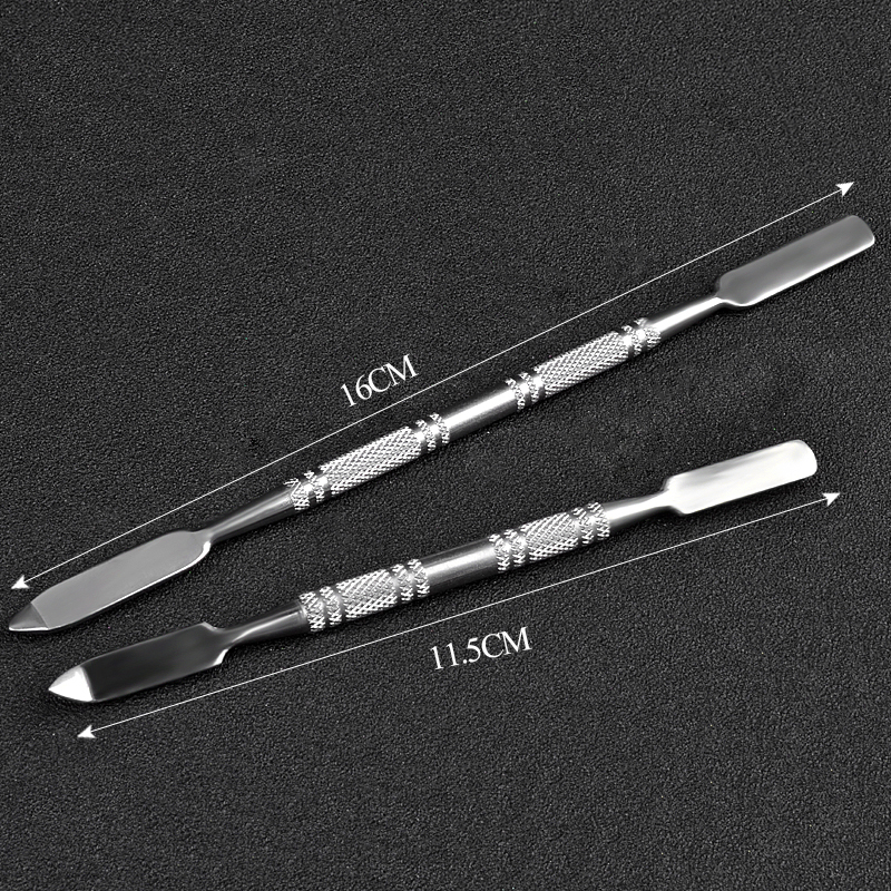 1pcs Makeup Tools Stainless Steel Spatula Manicure Dental Rod Tool Nail Art Nail Spatula Make up in Eye Shadow Applicator from Beauty Health