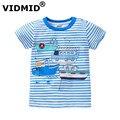 VIDMID дети футболка летняя одежда для мальчиков дети тройники детей с коротким рукавом футболка 100% хлопок высшего качества детская одежда