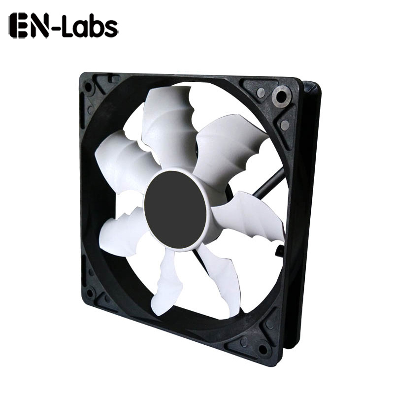 En-Labs <font><b>120mm</b></font> Sleeve Bearing Case <font><b>Fan</b></font> Cooler Cooling Heatsink for <font><b>PC</b></font> Computer,12CM <font><b>Fan</b></font> Radiators Power by 3pin or molex 4pin image