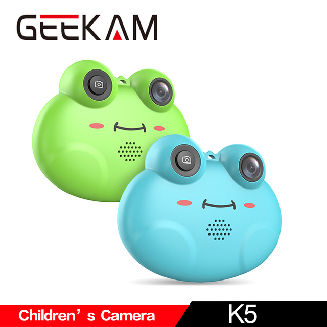GEEKAM Children's Camera K5 Mini Kid Cameras HD Projection Digital Camera Fotografica Digital Portable Cute Neck Children Gift