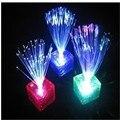Venda quente transporte Livre Colorido glowing LED Braid Novidade Decoração para Festa de Férias de iluminação de fibra óptica