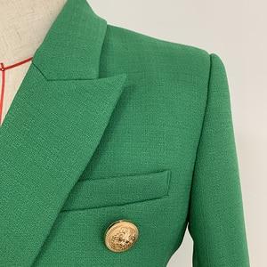 Image 3 - 높은 품질 새로운 패션 2020 활주로 디자이너 블레 이저 자 켓 여성 사자 단추 더블 브레스트 짠 블레 이저 자 켓