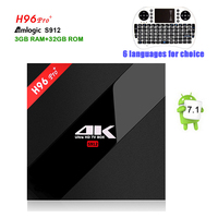 Newest H96 PRO TV Box Amlogic S912 Octa Core Android 6 0 Smart Tv 3GB 32GB