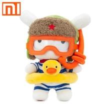 Xiaomi mitu boneca coelho original, 25cm pp algodão & lã dos desenhos animados, bonito, brinquedo, presente para crianças, meninas, meninos, aniversário amigo de natal