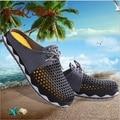 2017 Buena Calidad de Las Mujeres de Playa Zapatos de Verano de Moda Casual Ultraligero Transpirable Zapatos de Malla Unisex Parejas Sandalias de Tacón Plano