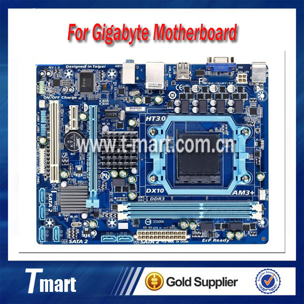 100% working Desktop motherboard for Gigabyte GA-78LMT-S2 System Board fully tested original for ga ma78lm s2 desktop motherboard 940pin am2 am3 ddr2 100% tested