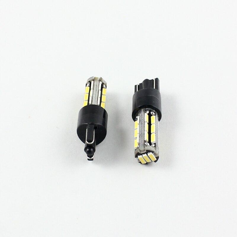 FSYLX 2pcs T10 canbus 27smd Car Led Bulb car Light Canbus W5W 194 4014 SMD Error Free White Light Bulbs for bmw e46 e39 f01 e92
