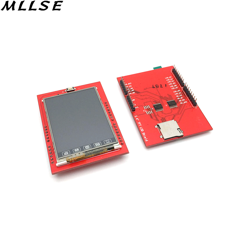 MLLSE 1pcs LCD Module TFT 2.4 inch TFT LCD Screen for Arduino UNO R3 Board LCD Shield Socket Touch Panel Module nokia 5110 lcd module white backlight for arduino uno mega prototype