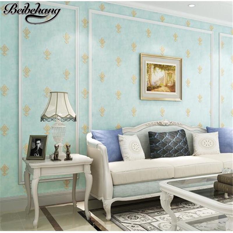 US $42.51 29% OFF|Beibehang Moderne Schlafzimmer Tapete Relief Einfache  Europäischen Wohnzimmer TV Hintergrundbild Amerikanischer Blume Papel de ...