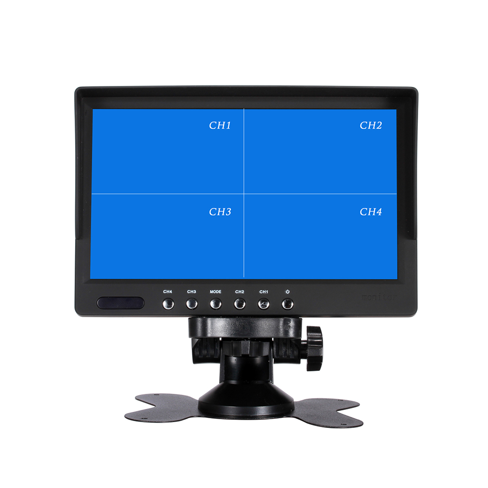 7 Inch QUAD Display screen CCTV TFT-LED Monitor with Metal Shell & Watercover for PC & Multimedia & Donitor Display & Microscope