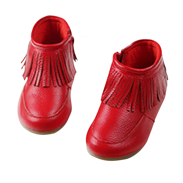 2017 New Arrival Children's Martin Boots Kids Ankle Boots Girls Shoes Fashion Boots Leather Snow Boots 4 Color
