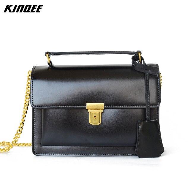 da8c551ee98 Luxury Handbags Women Bags Designer Satchels Cow Leather Messenger Bag  Vintage Women Cover Crossbody Genuine Leather Ladies