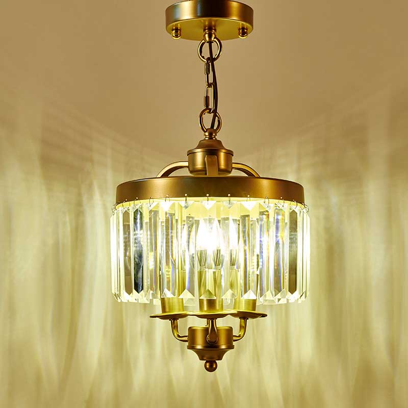 Z American Style K9 Crystal Chandelier Vintage Iron Lighting Fixture For  Bedroom The Entrance Hallway Lights