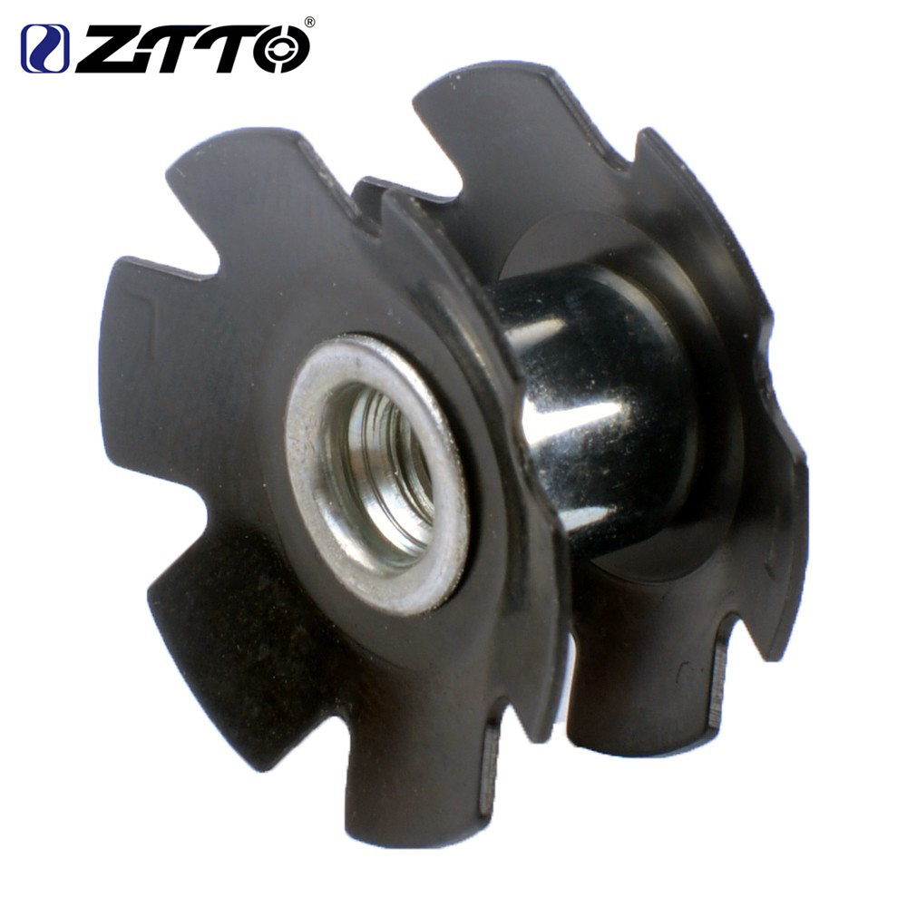 100pcs ZTTO MTB Road Bike Bicycle Cycling Steer Tube Headset Aluminum Star Nut 1 1 8