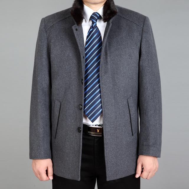 Masculino Casaco de Ervilha Mens Casacos E Jaquetas 2016 homens da Moda de Luxo Temperamento Contraído Chateado Para Manter Casaco Quente Dos Homens lã