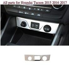 Из нержавеющей стали управления автомобилем разъем зарядки Сигаретный Дым Зажигалка Коммутатор Frame лампа отделка 1 шт. для Hyundai Tucson 2015 2016 2017