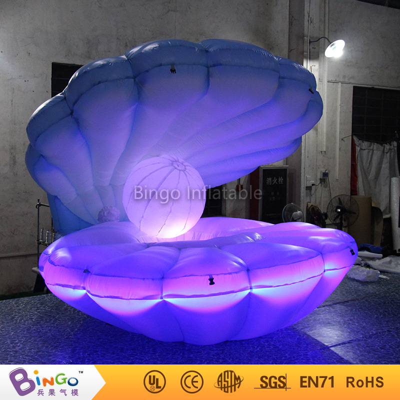inflatable model toy 2.5m ocean sea series inflatable blue sea shell with led lights and fulll print for party show decoration funny summer inflatable water games inflatable bounce water slide with stairs and blowers