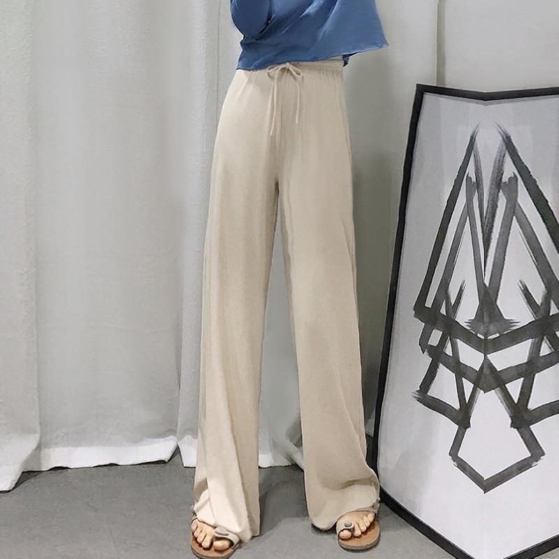2035 # широкие свободные длинные брюки для беременных с эластичной регулируемой талией брюки для живота одежда для беременных женщин Лето бер...