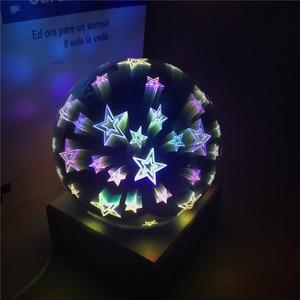 Image 5 - עץ צבעוני 3d אור קסם מקרן כדור 3d מנורת USB אספקת חשמל שינה אווירת לילה אור שמיים שולחן מנורה