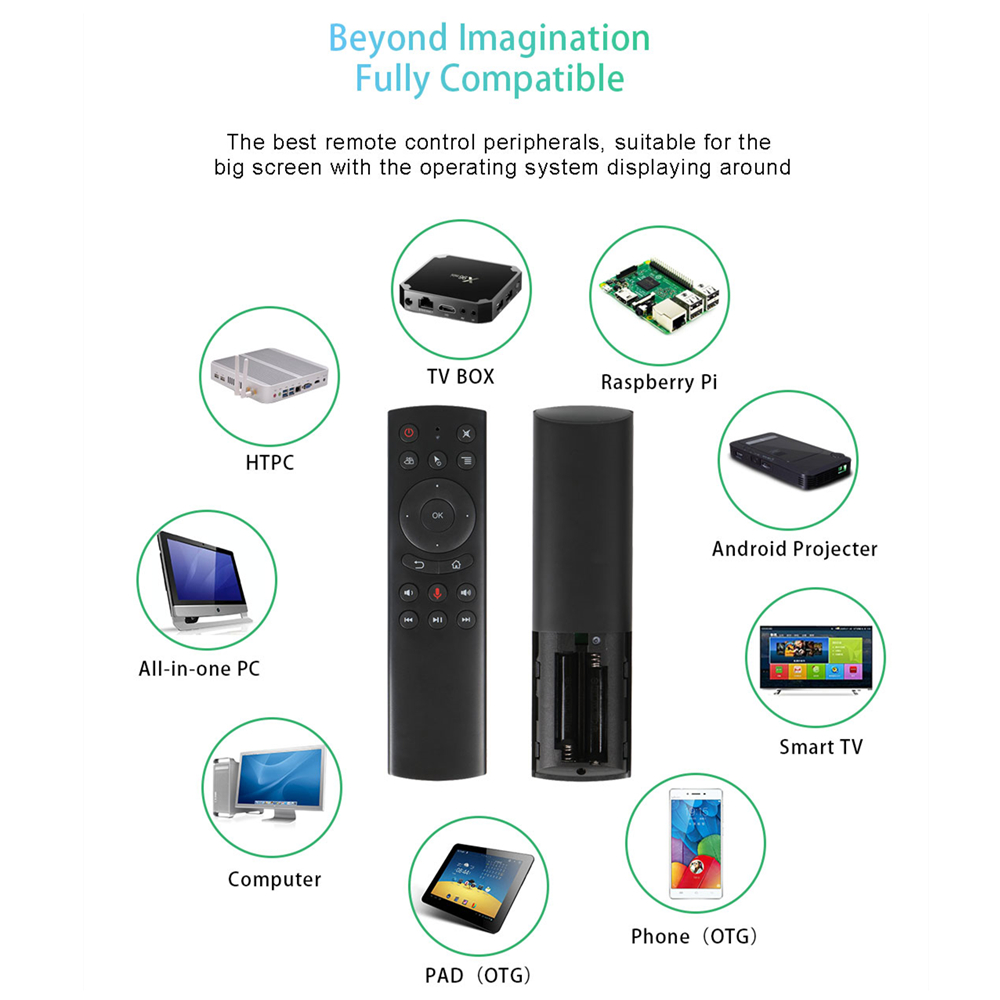 L8star G20S 2.4G Wireless Air Mouse Gyro Voice Control Sensing Universal Mini Keyboard Remote Control For PC Android TV Box 6