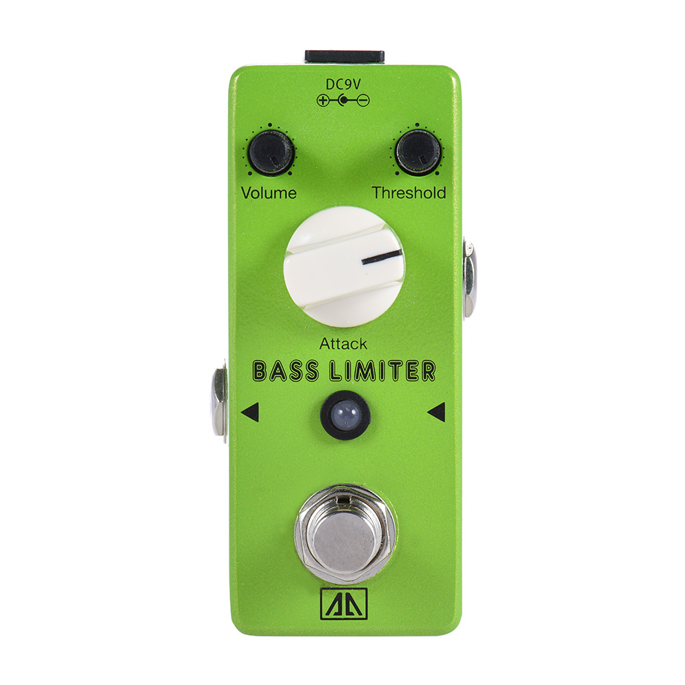 Aroma Mini Aluminum Alloy Body Bass Limiter ABL-5 Electric Bass Guitar Effect Pedal True Bypass aroma tom sline abr 3 mini booster electric guitar effect pedal with aluminum alloy housing true bypass durable guitar parts