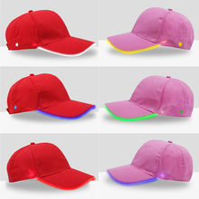 Fashion New Design Unisex LED Lighted up Hat Glow Club Party Baseball Hip-Hop Adjustable Sports Cap Running cap Hot sell A30524(China)