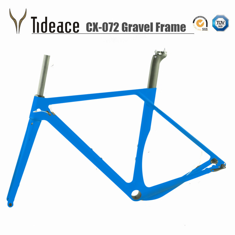 2018 Model Carbon Road MTB GRAVEL Bike Frame Full Carbon Bicycle Frame Road Bike Cyclocross Disc Bike Frame track frame fixed gear frame bsa carbon 1 1 2to 1 1 8 bike frameset with fork seatpost road carbon frames fixed gear frameset