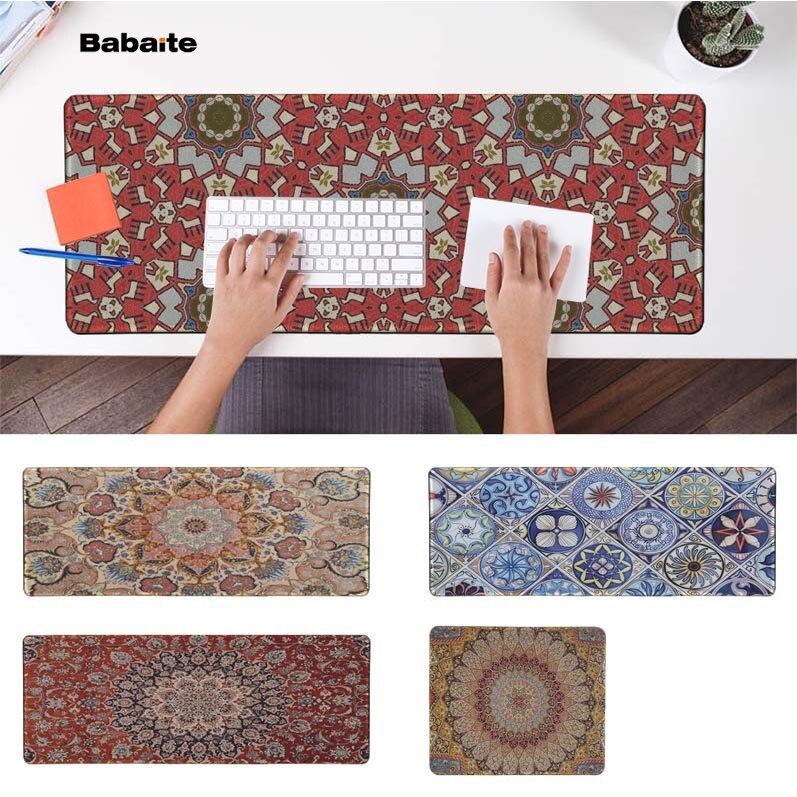 Babaite Beautiful Anime Persian Mini Woven Rug Natural Rubber Gaming mousepad Desk Mat PC Computer