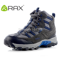 Rax Genuine Men Non Slip Waterproof Leather Hiking Shoes Lightweight Ultra Light Breathable Sneakers Mans Walking Shoes D0541