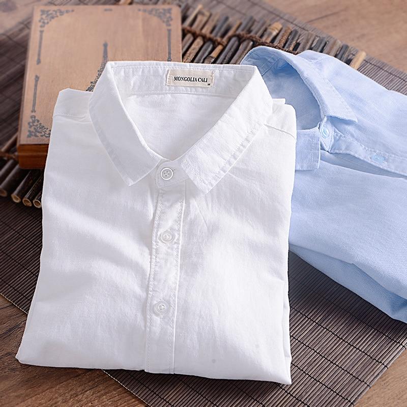 2016 spring and autumn men 39 s clothing male fashion white for White linen dress shirt