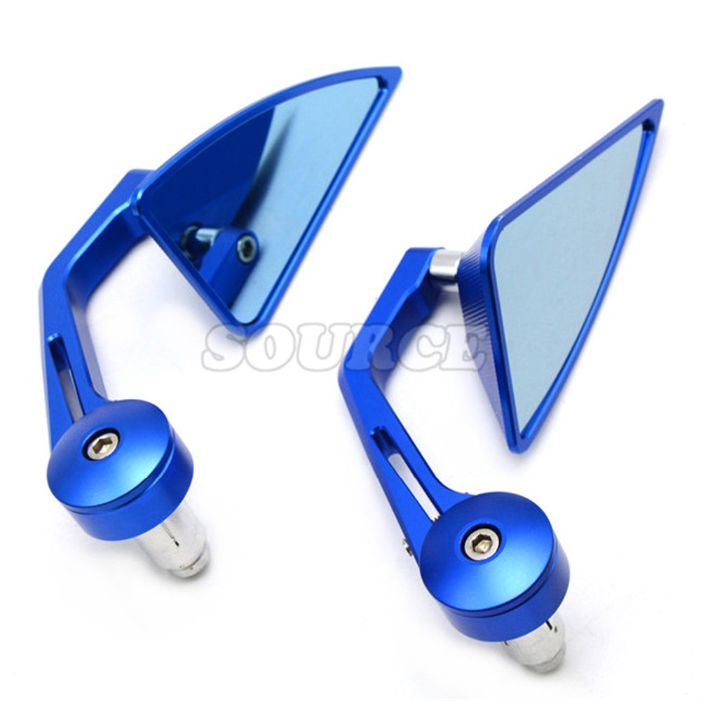 7/8 Accessories Motorcycle Rearview Mirror Round Handle Bar End Mirror Rear Side Mirro for KAWASAKI KFX450R08-10