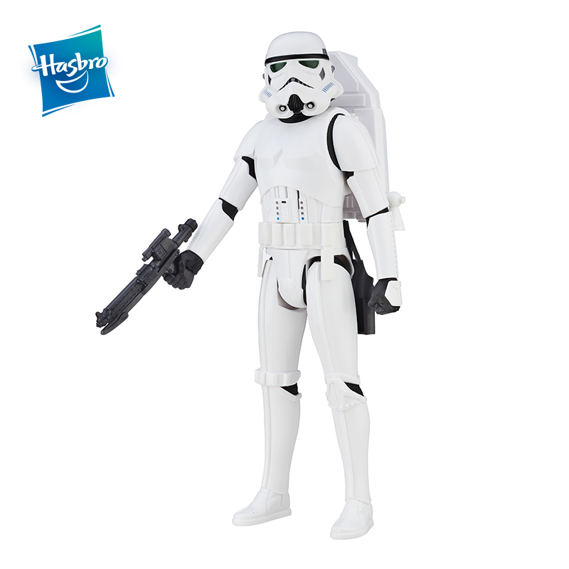Hasbro Star Wars Interactech Imperial Stormtrooper Figure With Sound Phrases&Lighting Voice Action Figure Collection Model Boys