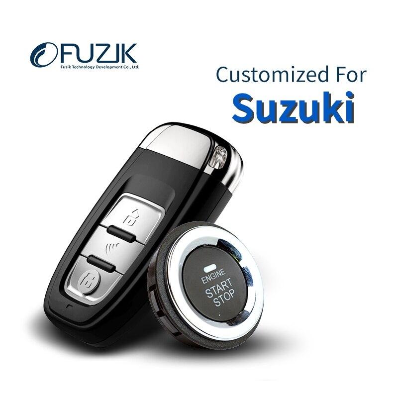 Fuzik Keyless Go Clé Intelligente démarrage À Distance Sans Clé Bouton Poussoir pour Suzuki SX4 Alto Grand vitara Swift