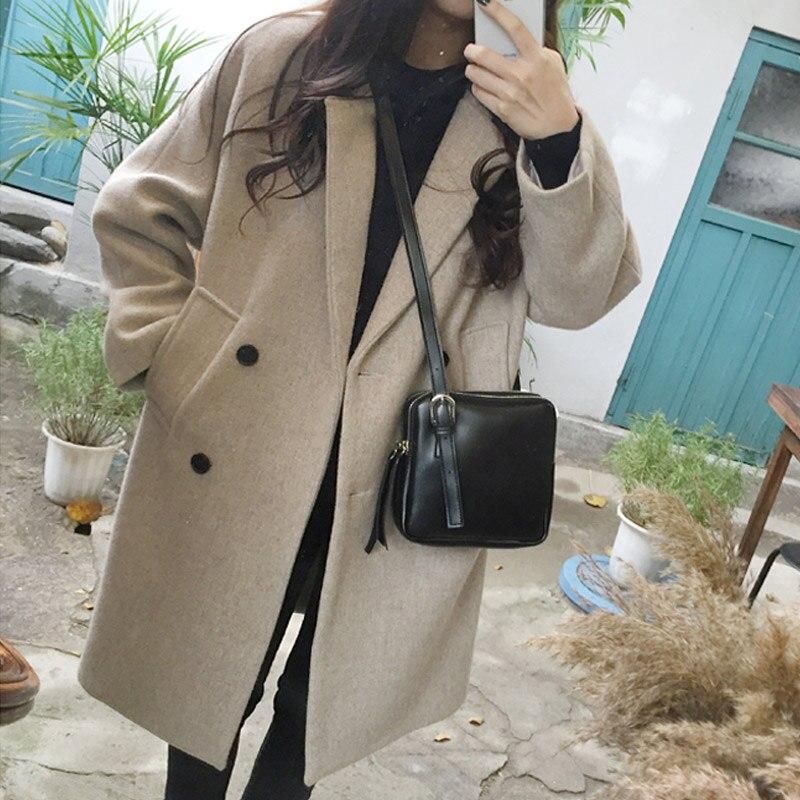 D'hiver Manteau Était Femme gris Mince 2018 Automne Coréenne Et Nouveau En Laine Code Noir Long wEUAIBqU