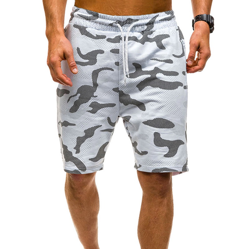 MJARTORIA Mens Camouflage Printed Shorts Elastic Waist Drawstring Fitness Slim Gym Sports Short Pant Men Camo Summer Shorts 2019