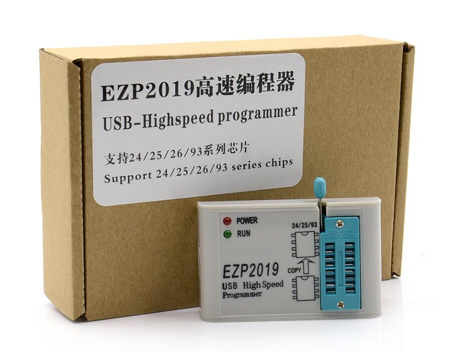 New EZP2019 High Speed USB SPI Programmer Better than EZP2013 EZP2010  2011Support 24 25 26 93 EEPROM 25 Flash Bios+5 adapters