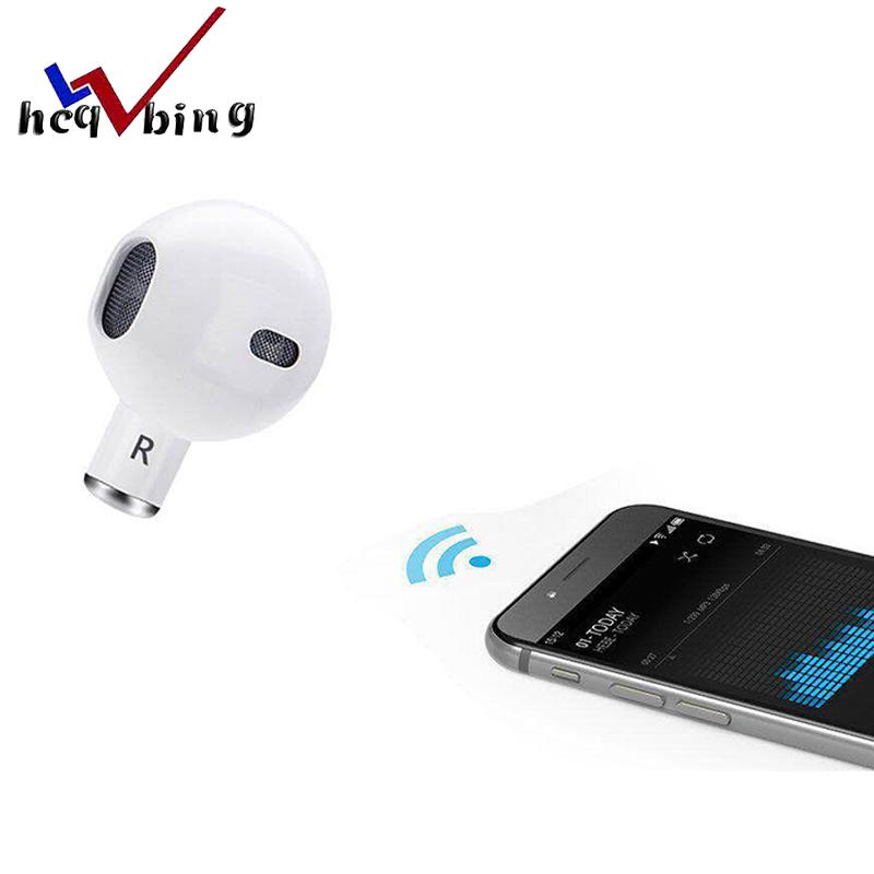 HCQWBING Mini A8 Wireless Single ear music bluetooth earbuds earphones single headset with micrphone for iPhone X Xiaomi Android