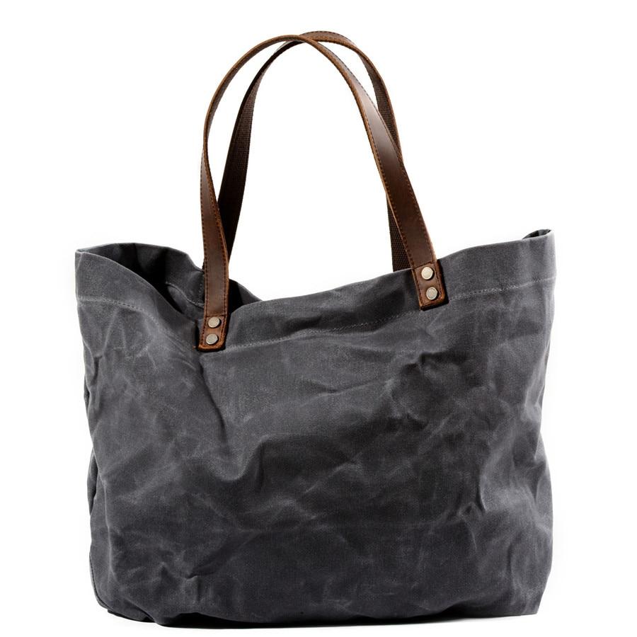 Ladies Bag Fashion Tote Big Wax Shopping Shoulder Bag
