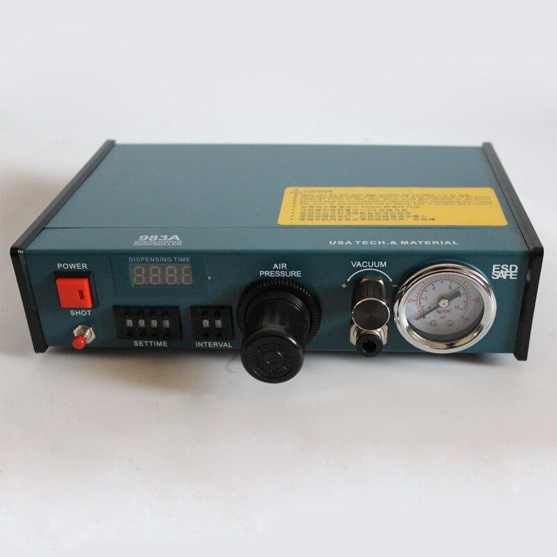 Vendita calda, Trasporto libero da DHL 110 V/220 V Auto Glue Dispenser Solder Paste Liquid Controller Dropper sistema di Erogazione 983A