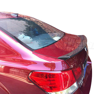 For Subaru Legacy Saloon Carbon Fiber Rear Trunk Lip Spoiler Wing 2010-2014 subaru traviq главный тормозной