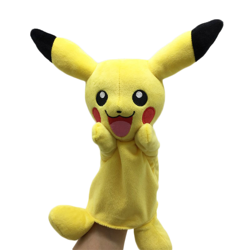 New Children Doll Pikachu Hand Puppet Toys Baby Classic Finger Puppets Toy Kids Gift Cartoon Animals Plush Collection Hand Dolls