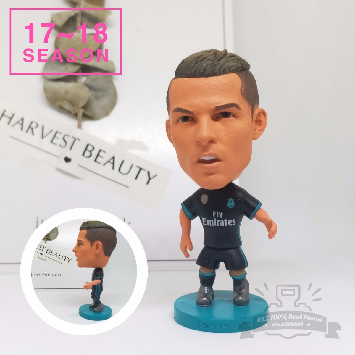 Soccerwe dolls figurine football stars 17-18 7# C Ronaldo Movable joints resin model toy action figure dolls collectible gift kodoto soccerwe roma totti football soccer moveable star collection dolls toy figures
