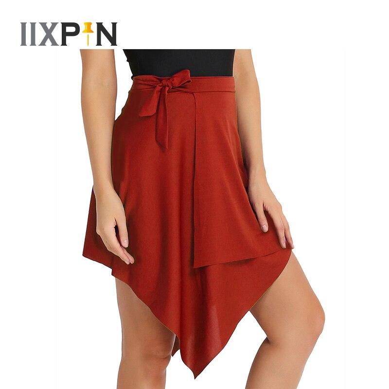 IIXPIN Asymmetric Latin Dance Skirt For Women Professional Sumba Dancing Skirt Adult Cheap Stage Rumba Qia Qia Latin Dress Dance